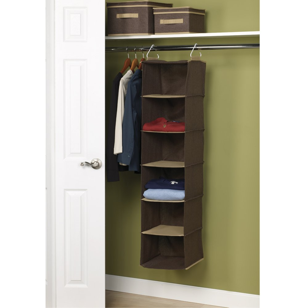 Amazoncom Household Essentials 6Shelf Hanging Closet Organizer