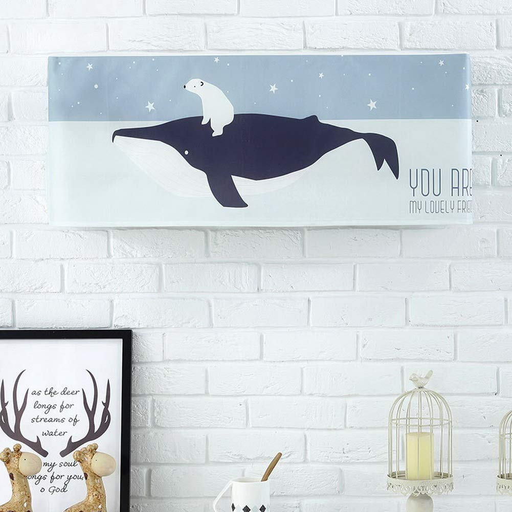 Gentle Meow Home Restaurant Dustproof Air Conditioner Cover, Whale and Bear by Gentle Meow (Image #2)