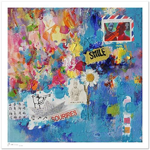 Reproducción de arte - Smile - sobre papel de acuarela 300g/m² con ...