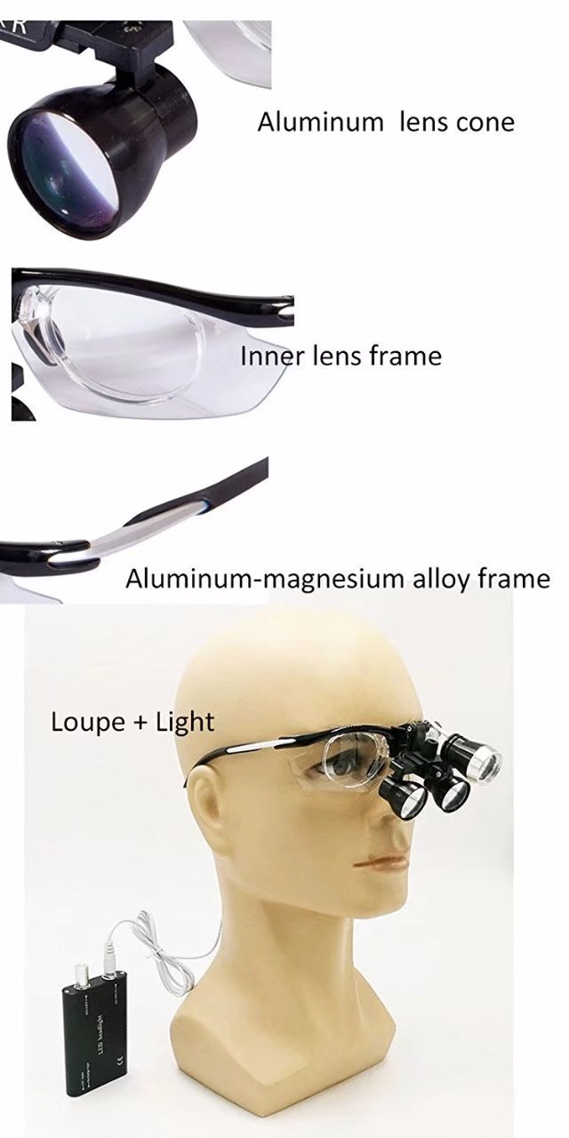 EAST Dental DY-112 Type 3.5X-R Aluminium frame Magnifier Lab Surgical Medical Binocular Loupe Glass