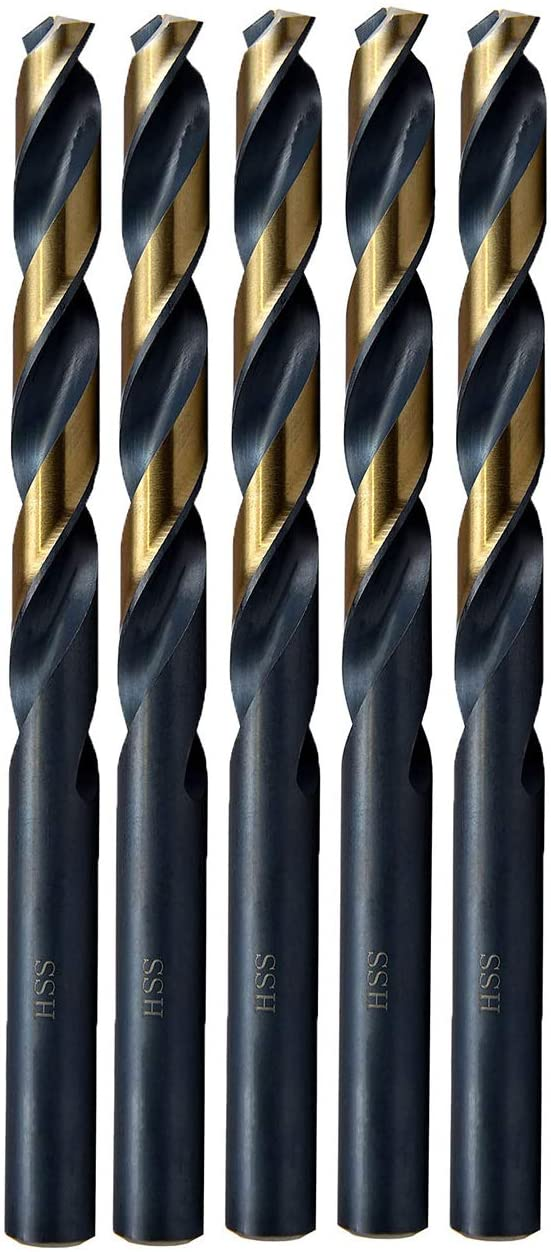 MAXTOOL Letter E Dia 0.250 5pcs Jobber Length Twist Drill Bits HSS M2 Fully Ground; JBL02H10REP5