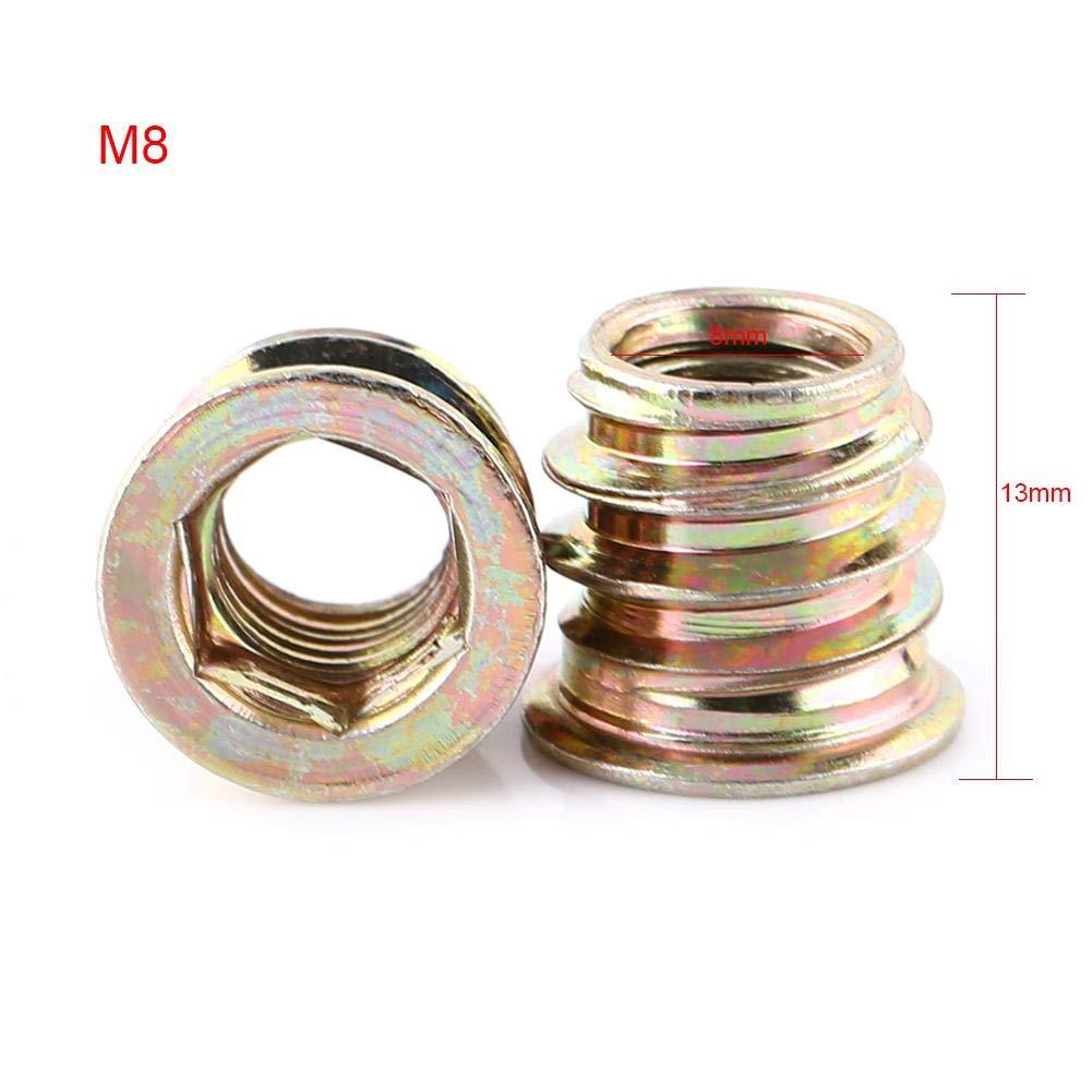 M10/×25mm 20-tlg Hex Antriebsmutter Einsetzmuttern Vollgewinde Verzinktes Carbon Stahl M6 // M8 // M10 Nietmuttern Sortiment Kit