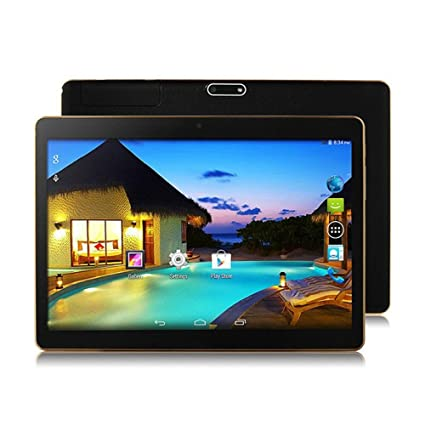 YDZB 10 inch Tablet PC Octa Core 4GB RAM 64GB ROM Dual SIM Cards Android  6 0 GPS Tablet PC (Silver) (Plastic Black)