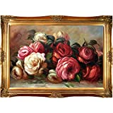 OverstockArt Renoir Discarded Roses with Victorian Gold Frame