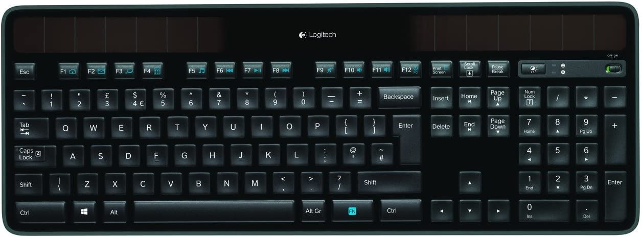 Amazon.com: Logitech K750 Wireless Solar Keyboard: Computers ...