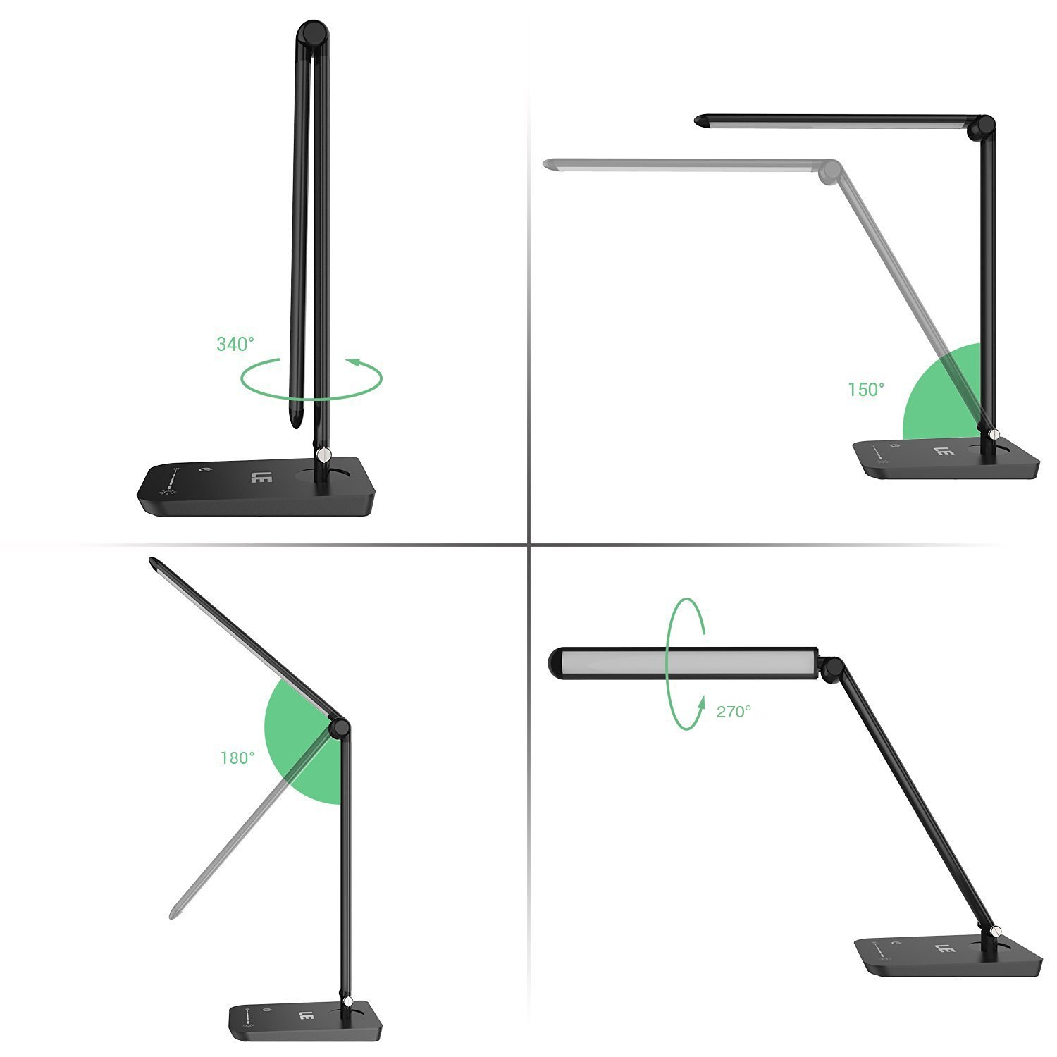 le dimmable led desk lamp 7 dimming levels eye care 8w touch