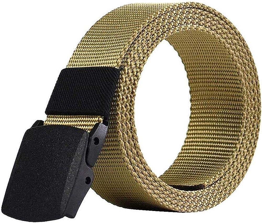 Cintur/ón t/áctico militar de secado r/ápido y ajustable para hombre con hebilla de pl/ástico transpirable Renquen de lona
