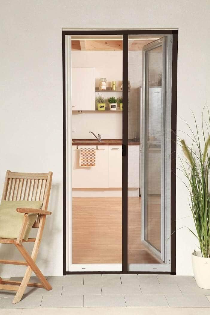 Mosquitera enrollable puerta Smart aluminio marrón 160 x 220 cm acortado a medida: Amazon.es: Bricolaje y herramientas