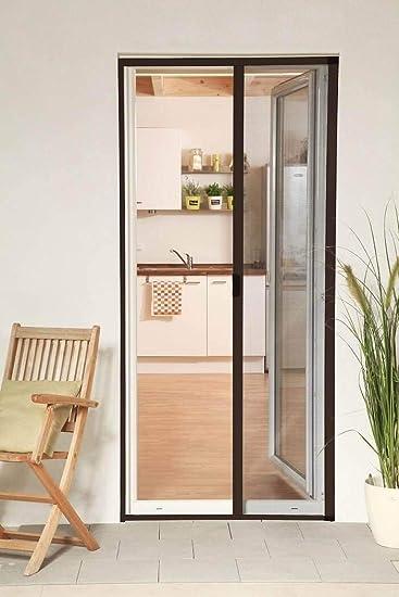 Mosquitera enrollable puerta Smart aluminio marrón 160 x 220 cm recortable compatible puerta ventana: Amazon.es: Bricolaje y herramientas