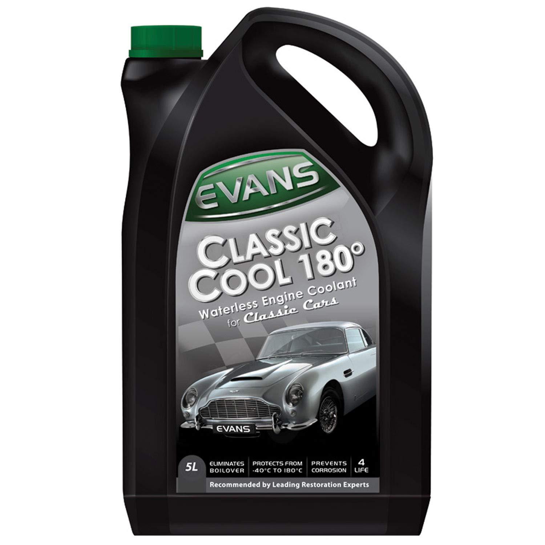 Evans Classic Cool 180°- Liquido refrigerante per motori, senza acqua; per auto d'epoca; 5 L senza acqua; per auto d'epoca; 5 L