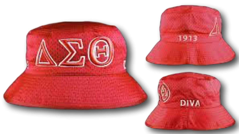 Delta sigma theta sorority diva bucket hat at amazon womens clothing store  jpg 1500x842 Diva hat 5b80216dbebc