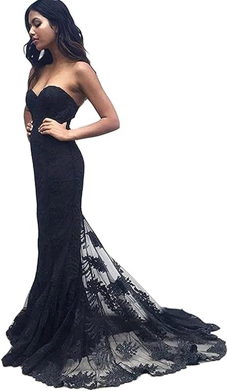 Lace Prom Dress Off Shoulder Navy Blue