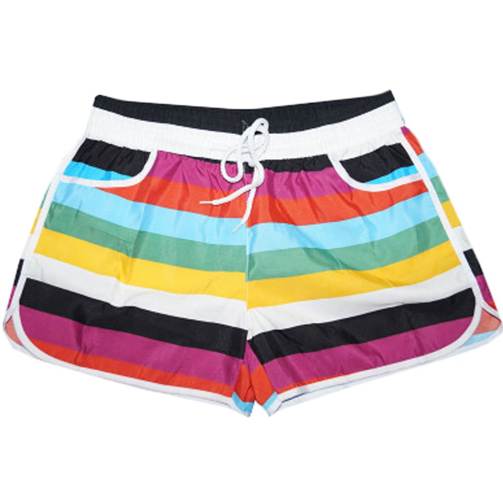 Leisure Stripes Beach Pants Quick-drying Loose Hot Pants Sport Shorts BT-CLO1288633011-MC01035
