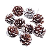 BESTIM INCUK 9 Pieces Christmas Pine Cones Ornaments for Xmas Tree Party Decorations Craft