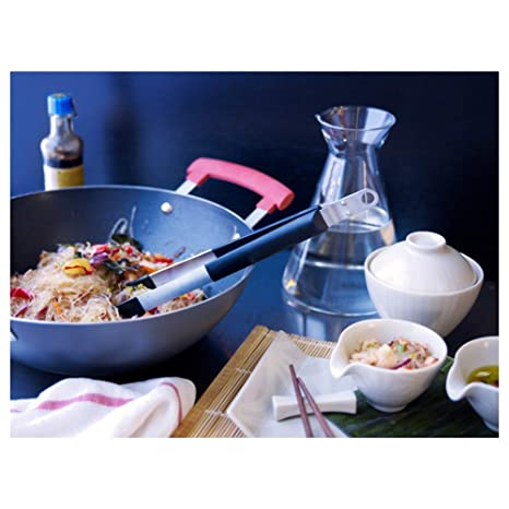 IDENTISK Wok with lid Dark Grey Aluminio horno: Amazon.es: Hogar