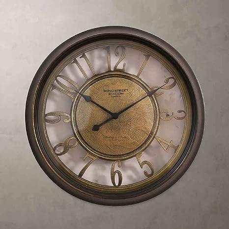 retro Europea hacer el viejo reloj de pared romana pašªs de AmšŠrica relojes de sala dormitorio estar del hogar modelo: Amazon.es: Hogar
