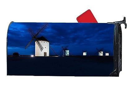 Amazon.com: BYUII White Windmill Night Seasonal Theme ...