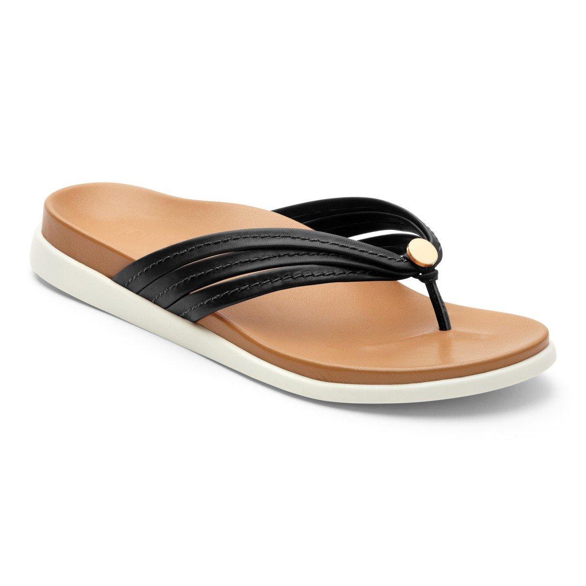 VIONIC Zehensteg Sandale Gr. Catalina schwarz Gr. Sandale 36-43 Schwarz 6cb87b