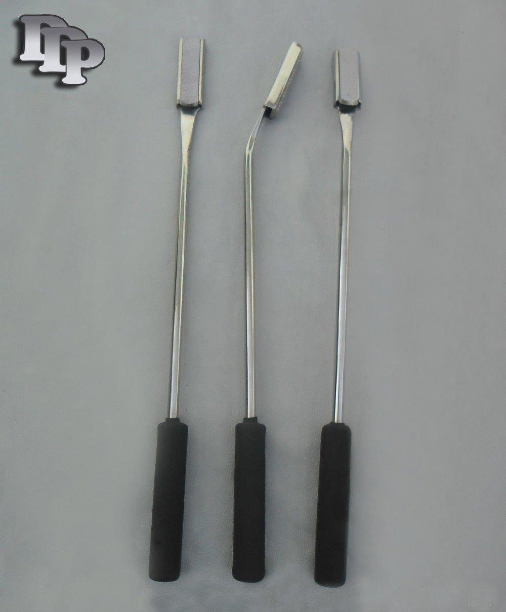 Set of 3 Equine Dental Float Rasp Str,down,up,veterinary DDP Instrments