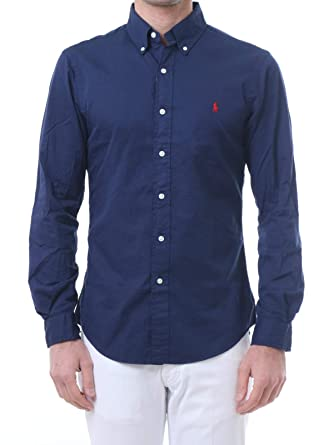 Ralph Lauren Camicia Slim Fit in Cotone 710741788 Navy Size:L ...