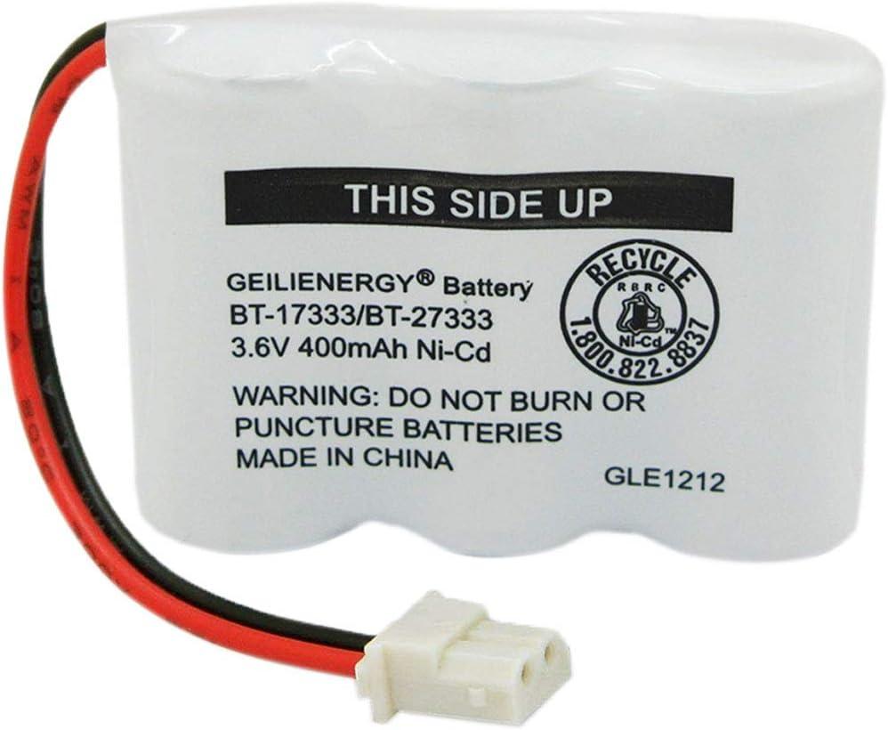 Geilienergy BT-17333 BT-27333 Handset Telephone Rechargeable Battery 2/3AA 3.6V NI-CD Cordless Phone Battery Compatible with Vtech BT17333 BT27333 BT-17233 BT17233 BT-163345 CS5121 (Pack of 1)