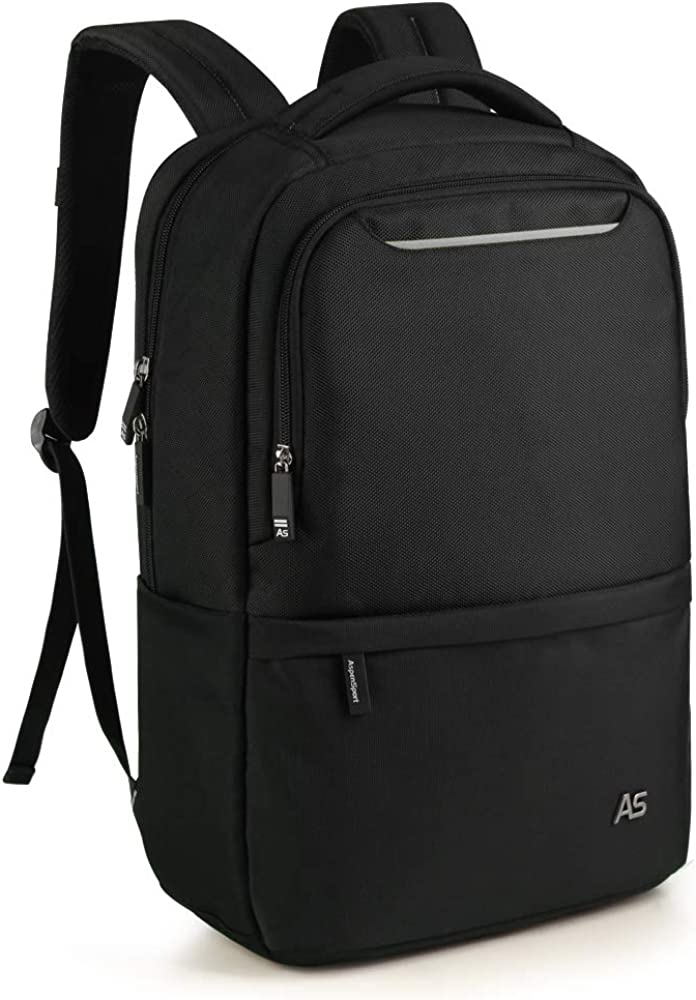 "ASPENSPORT Laptop Backpack with Luggage Strap Water Repellent Fit 15.6""Computer"