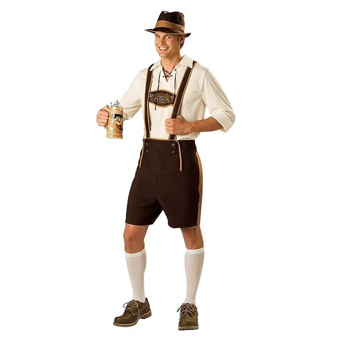 aef7b07b78a0 Sasairy Uomo Set di Oktoberfest Costume Costume da Bavarese + Camicia de  Maniche Lunghe + Cappello Cosplay Abbigliamento  Amazon.it  Abbigliamento