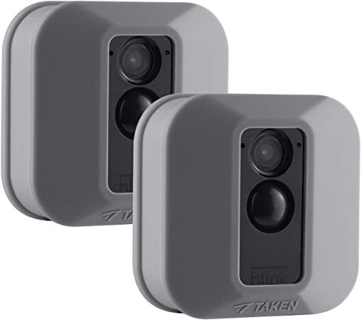 Jessy Silikon Schutzhülle Für Blink Xt Xt2 Sicherheitskamera Kratzfest Uv Und Witterungsbeständig 2 Stück Grau Elektronik