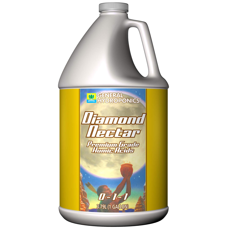 General Hydroponics HGC732165 Diamond Nectar 0-1-1 Premium Grade Humic Acid for Soil, Soilless Mixes, Coco & Hydroponics1-Gallon