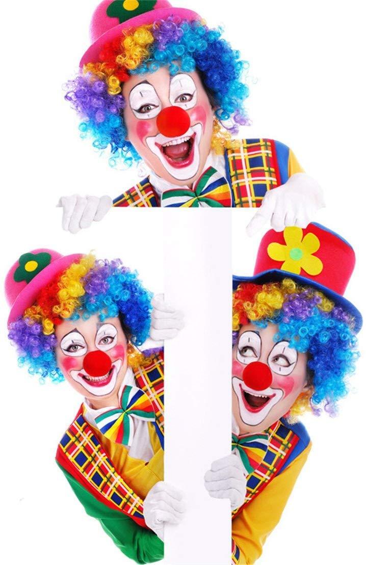 circo Rudolph Reno y Halloween D/ía de la nariz roja Conjunto de Nariz de novedad blanda a granel cumplea/ños fiesta de baile 12-Paquete de Nariz de payaso de espuma roja