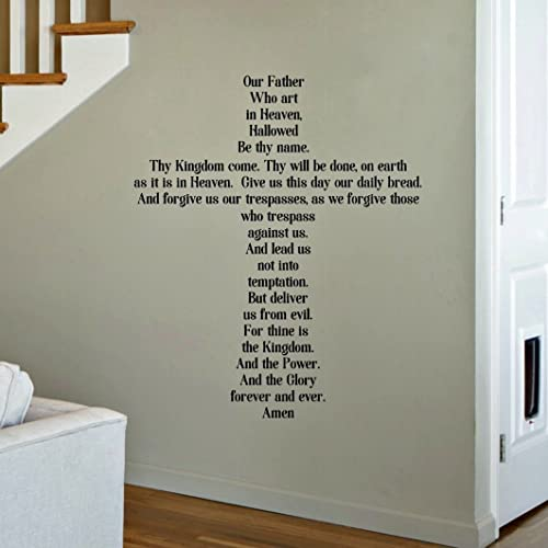 Amazoncom The Lords Prayer Wall Decal Christian Cross Sticker - Wall decals christian