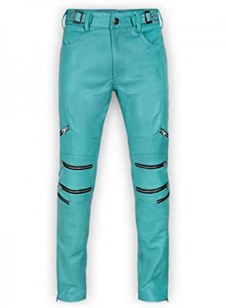 ccd7180bbd8ee Hippie Cult Women's Electric Blue Leather Pants at Amazon Women's ...