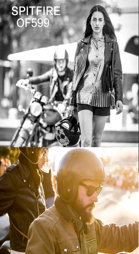 Adulte Hommes Femmes Casque Jet Scooter ECE Homologu/é L-4XL Drapeau National Cr/âne Fille Personnalit/é Vintage Harley Casque Moto Visage Ouvert