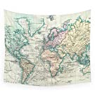 "Society6 Vintage Map Of The World (1801) Wall Tapestry Small: 51"" x 60"""