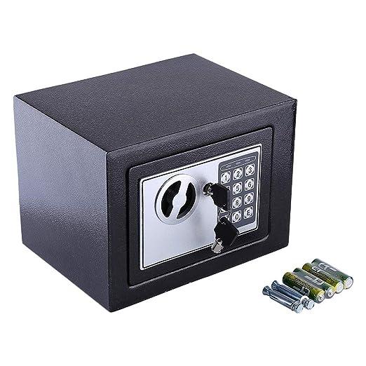 Zoternen 6.4L Caja Fuerte Digital Peque/ña,para Oficina o Uso dom/éstico,para Montaje en Pared o Suelo,Color Negro