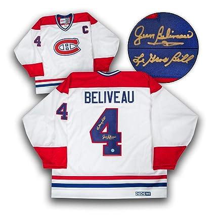 4700ef087 Image Unavailable. Image not available for. Color  Jean Beliveau Montreal  Canadiens Autographed Retro CCM Jersey ...