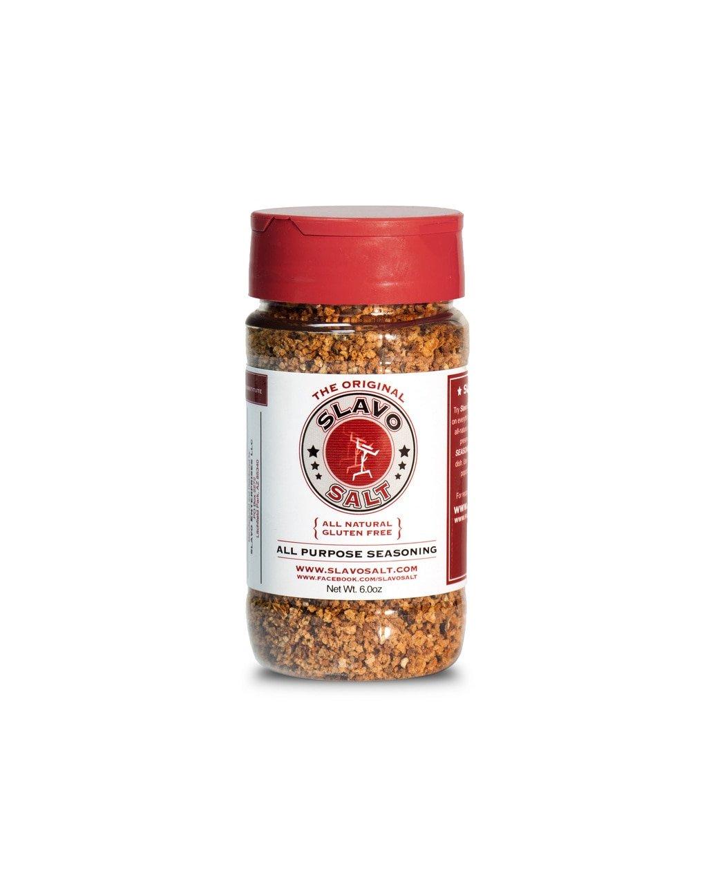 Slavo Salt All Purpose Seasoning (13 ounce) – Fresh Garlic, Kosher Salt and Black Peppercorn - Whole 30, Keto and Paleo ––