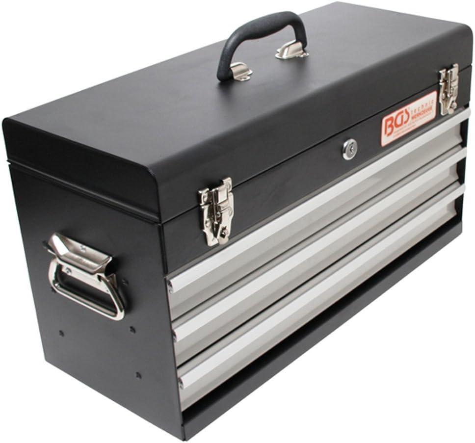 BGS 3312 | Maletín de herramientas metálico, vacío | 3 cajones: Amazon.es: Bricolaje y herramientas