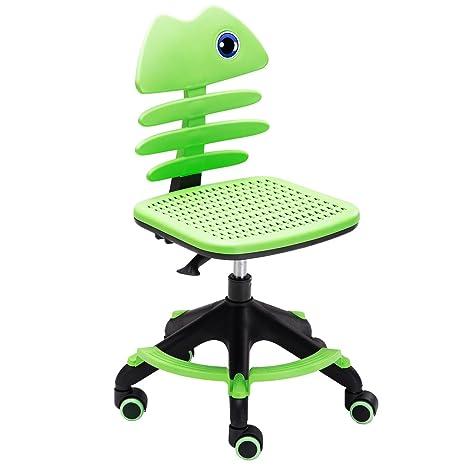 Amazon.com: Niños computadora de oficina silla giratoria ...