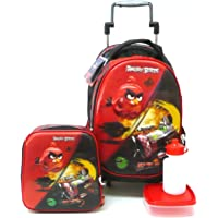 Mochila Angry Birds Pigs Will Fly 3d G Rodinhas + Lancheira
