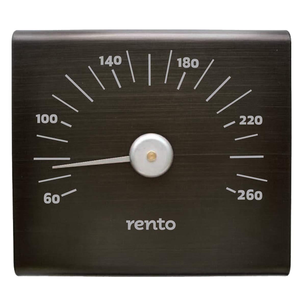 Rento Aluminum Sauna Thermometer Fahrenheit