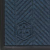 Andersen 2240 Waterhog Eco Elite PET Polyester Fiber Indoor/Outdoor Floor Mat, SBR Rubber Backing, 8.4' Length x 3' Width, 3/8'' Thick, Indigo