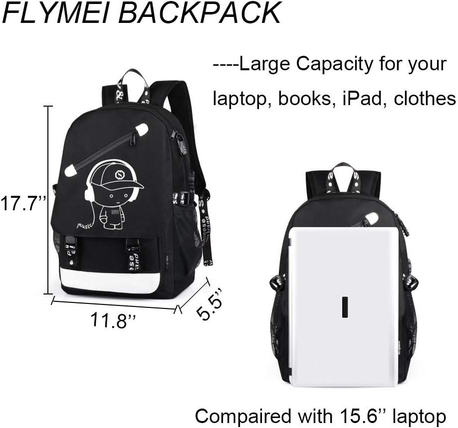 Lmuchen Backpack Wolf Cloud Crescent Star Sky Bookbag Laptop Backpack Shoulder Resistant Students Adult Laptop Travel Hiking