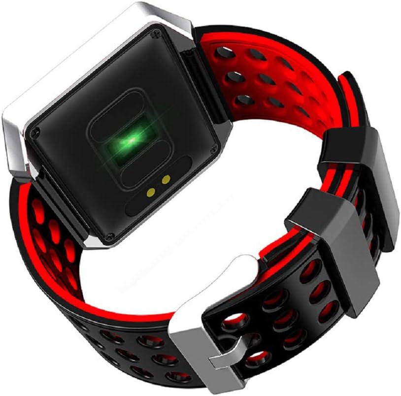 LinZec Smael-Pj20 Intelligente Orologio Elettronico, Sport Step Count Frequenza Cardiaca Supporto Android iOS Bluetooth Multi-Funzione Watch,Blue Red
