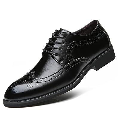 Herren Brogue Schuhe Spitze Zehen Mikrofaser Perforierte