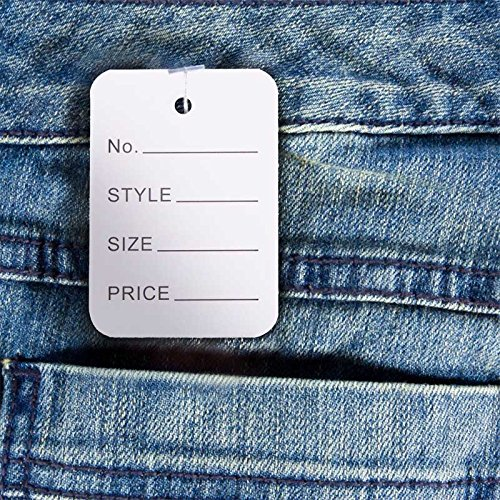 1b4dd0bdb712 1000 PCS Price Tags, Clothes Size Tags Coupon Tags Making Tag White Store  Tags Clothing Tags, 1.94