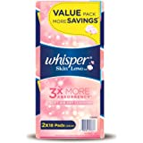 Whisper Skin Love Ultra Slim Normal Flow 24cm Sanitary Pads Value Pack, 18ct (Pack of 2)
