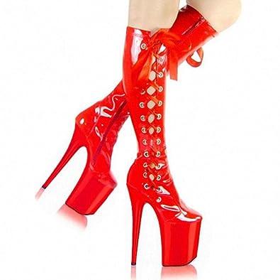 Genou Mode Rouge Au Bottes Cuissardes Les Dzw Femmes eBoQdxWrC
