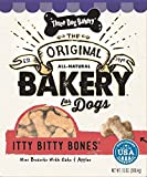 Three Dog Bakery Itty Bitty Bones, Baked Dog Treats, Oats & Apples, 13-Ounce
