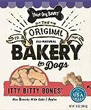Cheap Three Dog Bakery Itty Bitty Bones, Baked Dog Treats, Oats & Apples, 13-Ounce